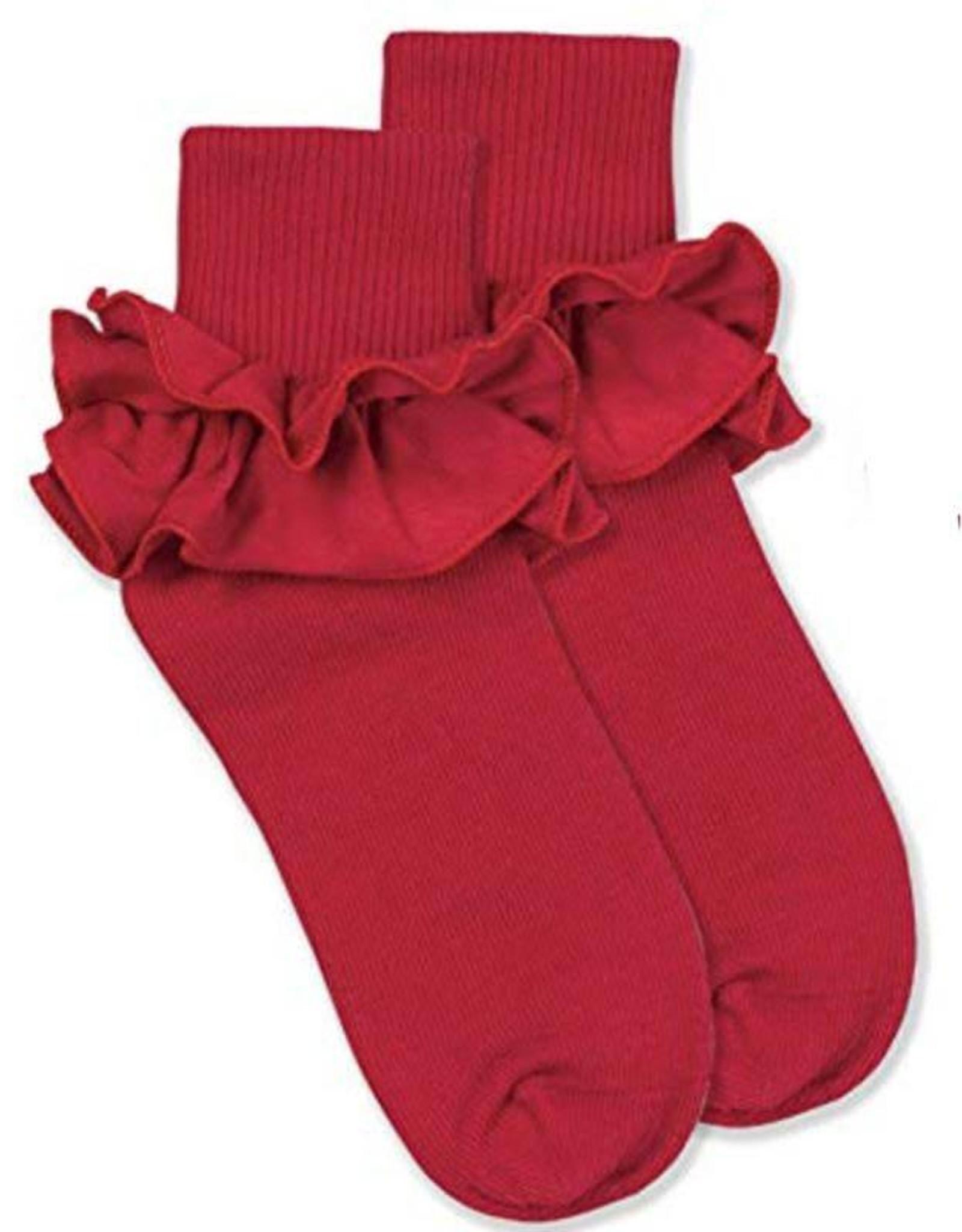 Jefferies Socks Red Ruffle Socks