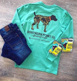 Southern Point Co. Turquoise Camo German ShortHair Pointer Tee