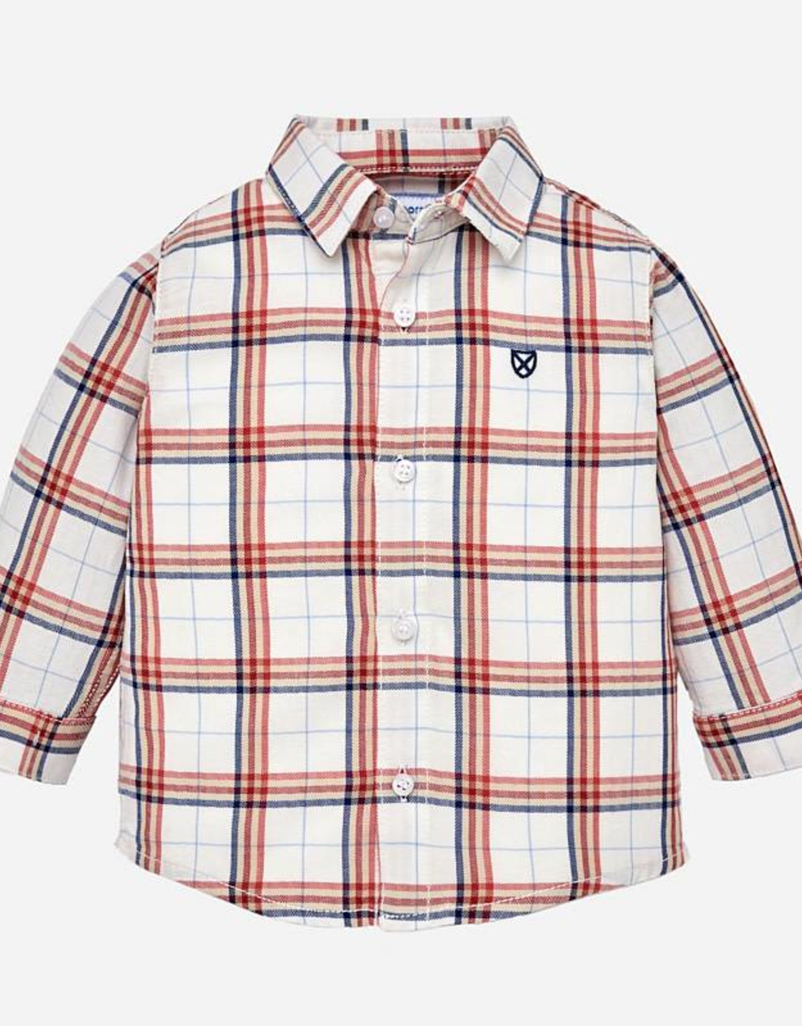 Mayoral Red/Blue Plaid Button-Up