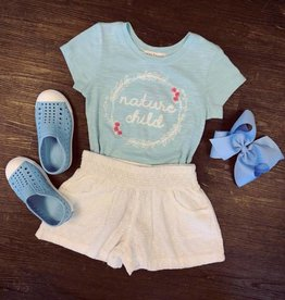 Mimi and Maggie Nature Child Tee in Blue