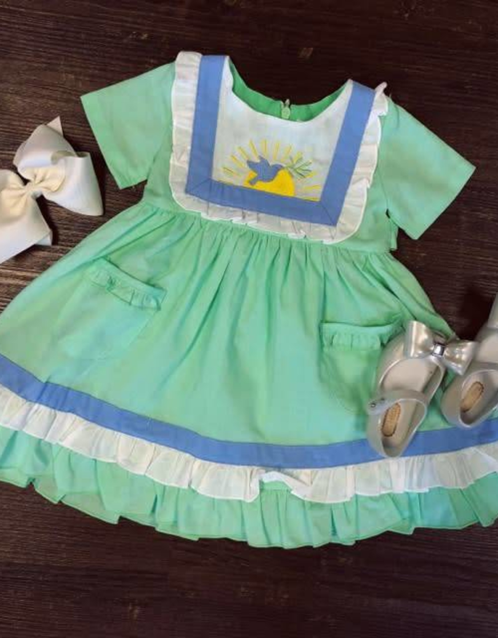 Evie's Closet Dove Bib Dress