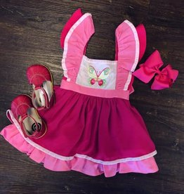 Evie's Closet Butterfly Chiffon Pinafore