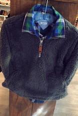 Southbound Grey Fur Zip-Up Jacket