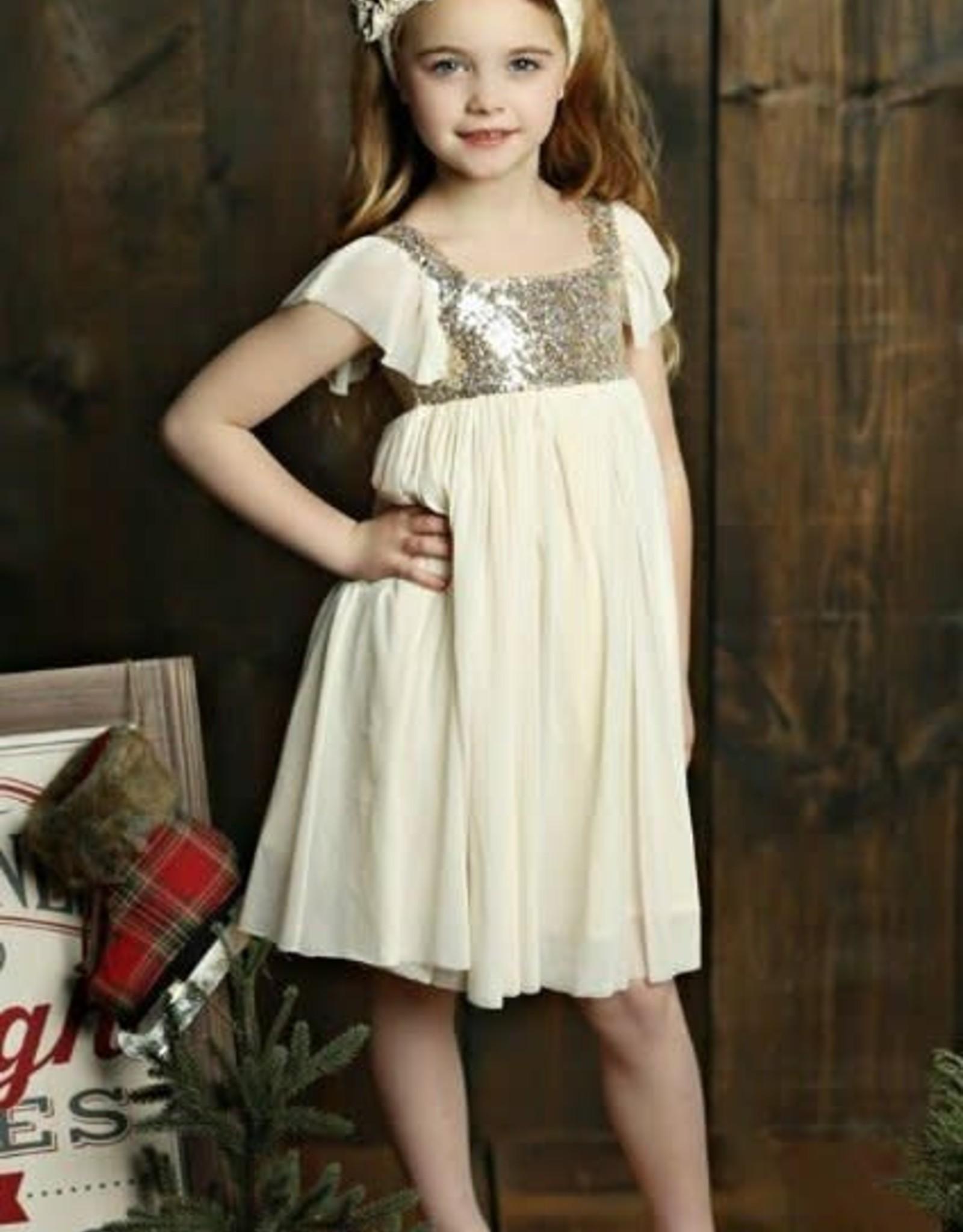 Mustard Pie Vanilla Shimmer Dress