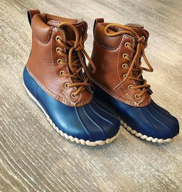 Boutique Duck Boots in Navy