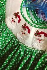 Mom&Me Green Polka Dot Santa Dress
