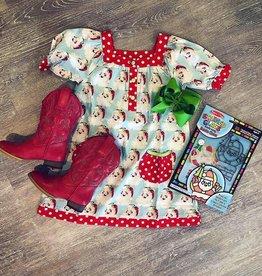 Banana Split Dear Santa Yoke Dress