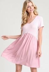 Hayden Stripe BabyDoll V Neck Dress