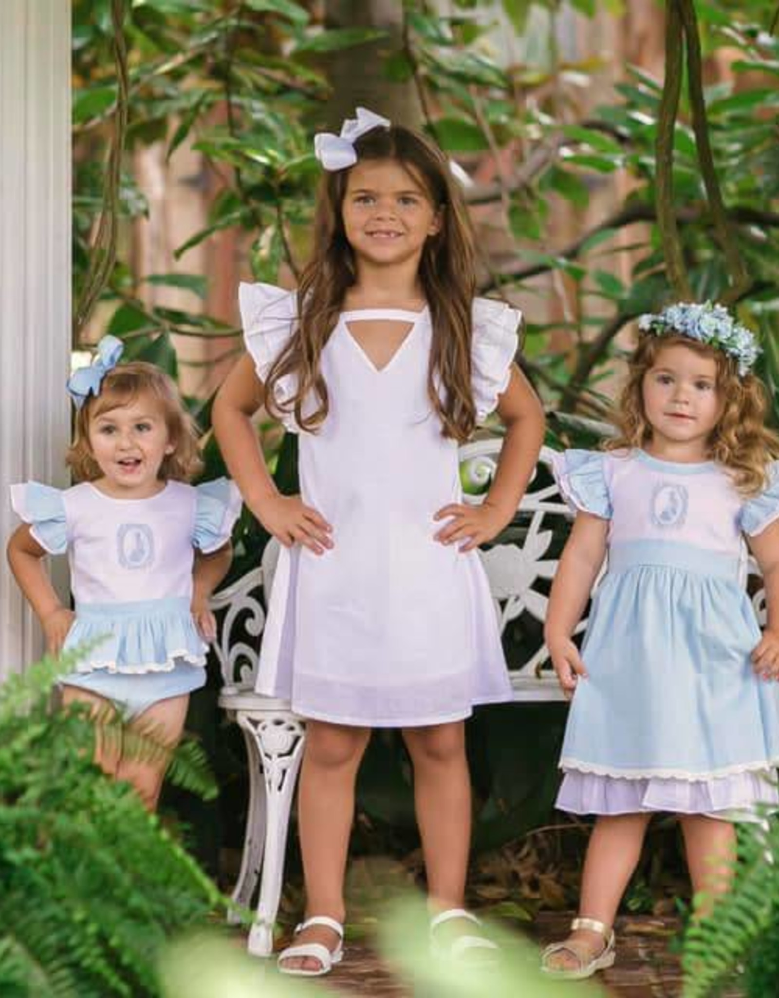 Evie's Closet White Flutter Sleeve Dress