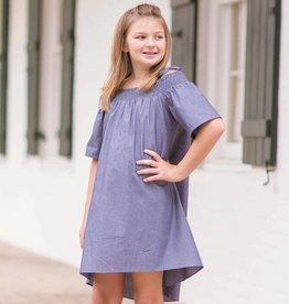 Evie's Closet Chambray Hi/Low Dress