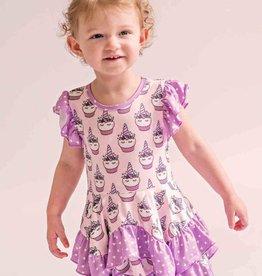 Charlies Project Unicorn Cupcake Lola Ruffle Dress
