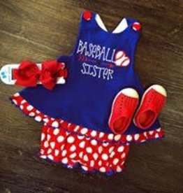 Banana Split Baseball Sister Bloomer Set