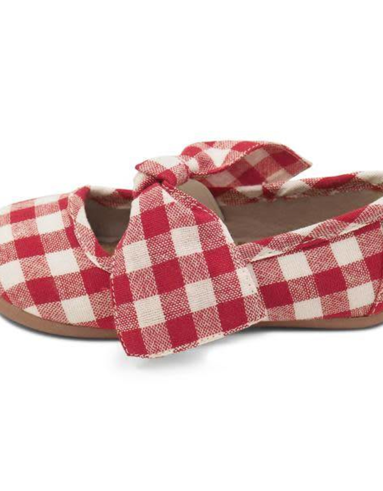 Livie and Luca Halley Ballet Flat in Red Gingham
