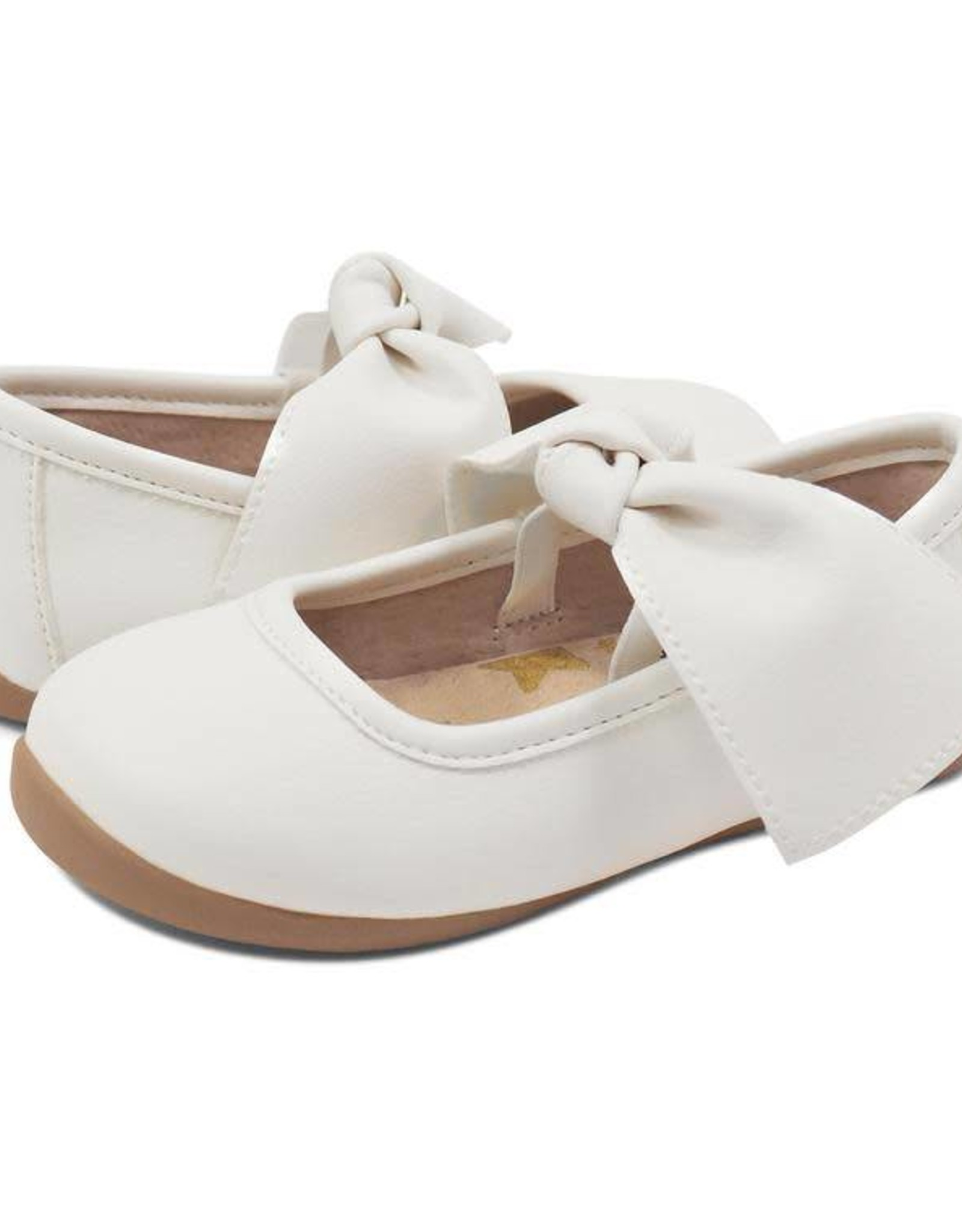 Livie and Luca Halley Ballet Flat in Bright White