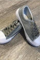 Pierre Dumas Kids Silver Morgan Sneaker