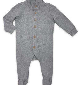 Little Prim Willow Playsuit in Heather Grey