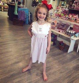 True Cherry Scallop Dress