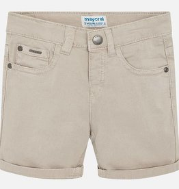 Mayoral Twill Shorts in Stone