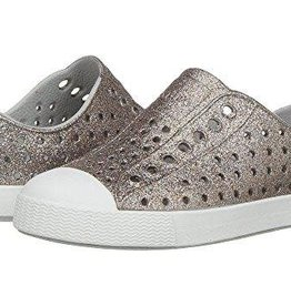Native Shoes Jefferson in Metal Bling/Shell White
