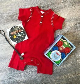 Lemon Loves Layette Baseball Romper