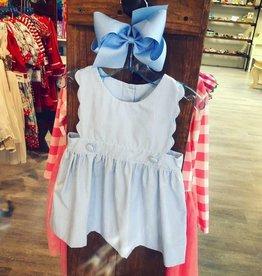True Scallop Blue Stripe Dress