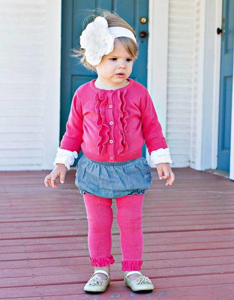 a3599b7633f1 Fuchsia Footless Ruffled Tights - Marlee Janes