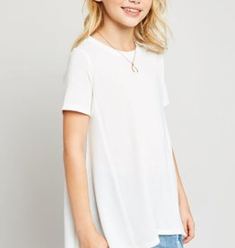 Hayden Raw Edge Tunic Tee