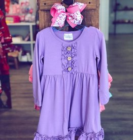 Honeydew Lavender Ruffle Dress