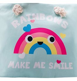 Boutique Rainbow Animated Canvas Tote Bag