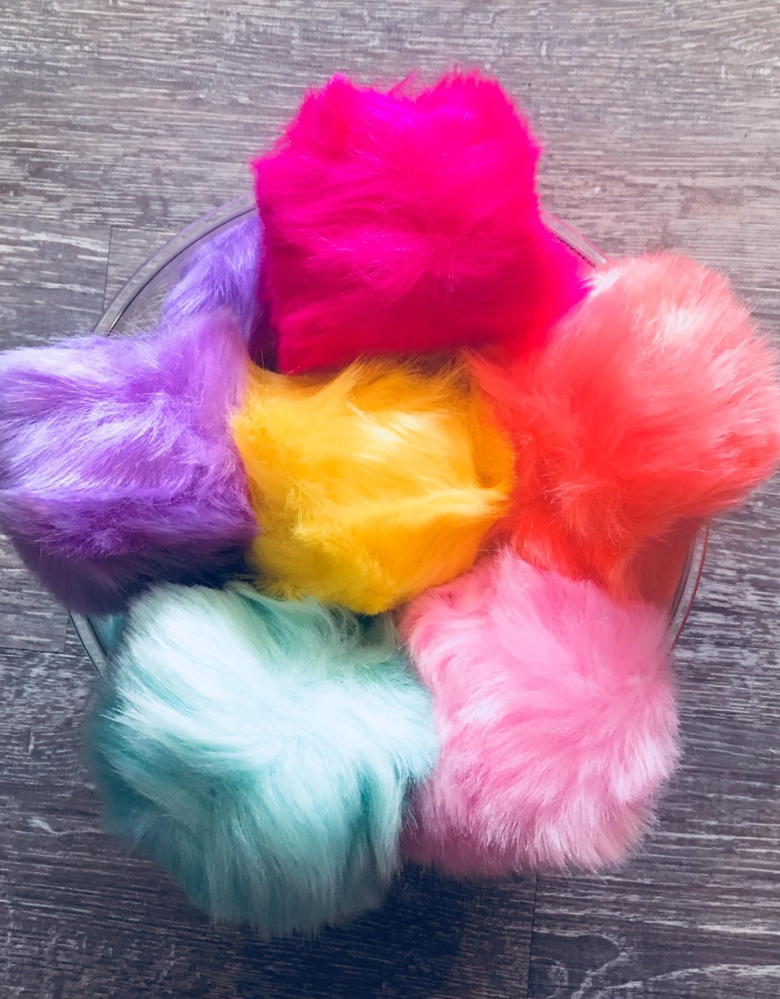 Faux Fur Key Chain Fur Ball