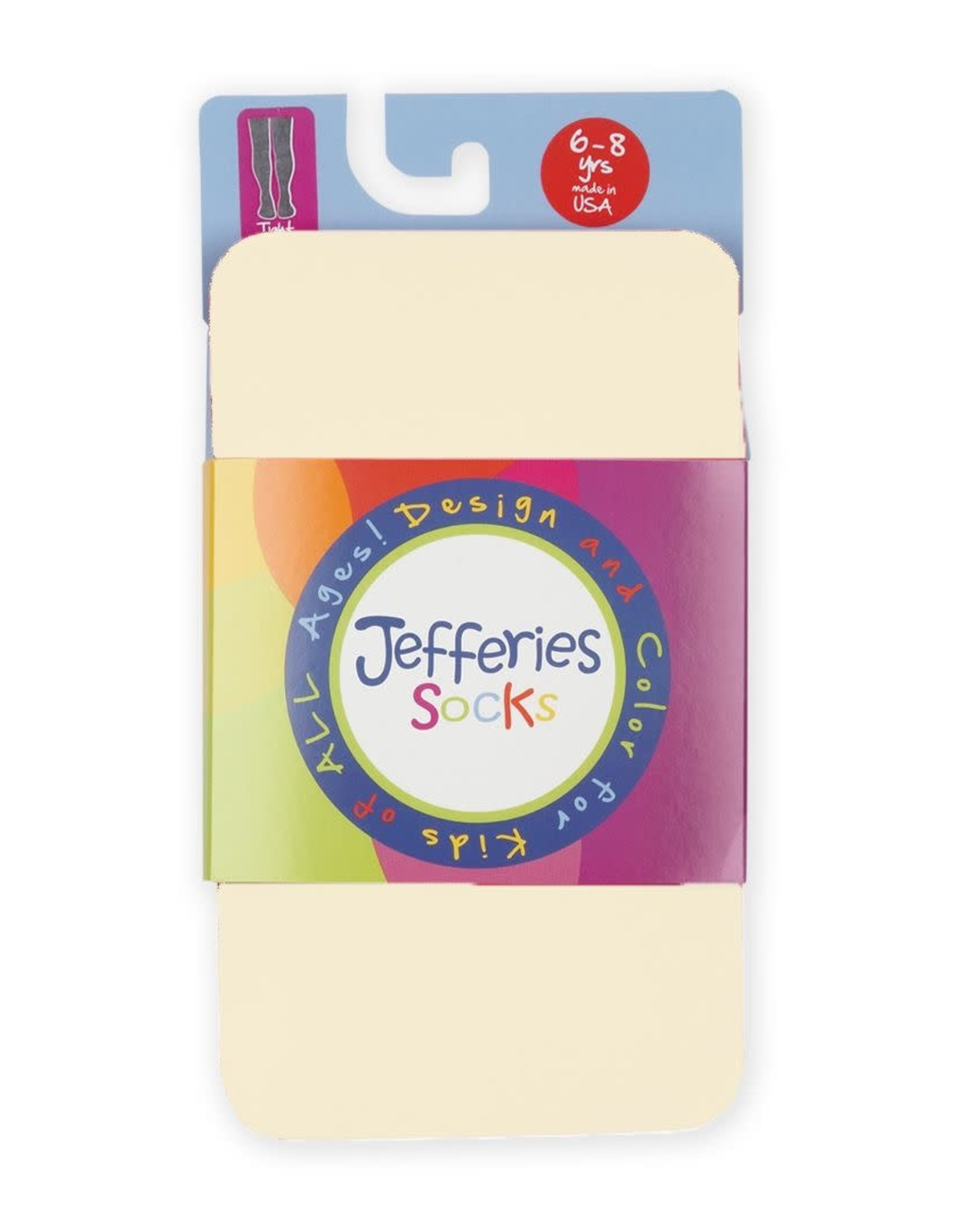 Jefferies Socks Smooth Microfiber Tights in Ivory