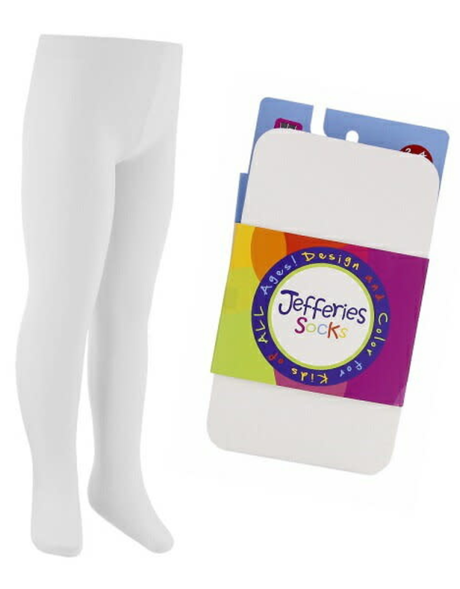 Jefferies Socks Smooth Microfiber Tights in White
