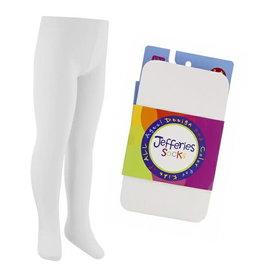 Jefferies Socks Smooth Microfiber Tights in White