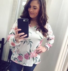 Maddie Floral Top with CrissCross Back