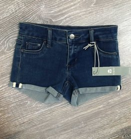 Tractr Indigo Crop Shorts