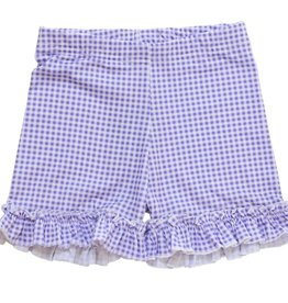 Be Girl Clothing Violet Gingham Shorties