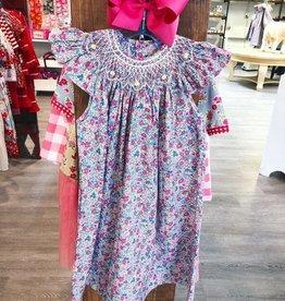 Remember Nguyen Pink Flower Lily Angel Bishop Dress