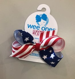 WeeOnes Mini Star/Stripe Bow