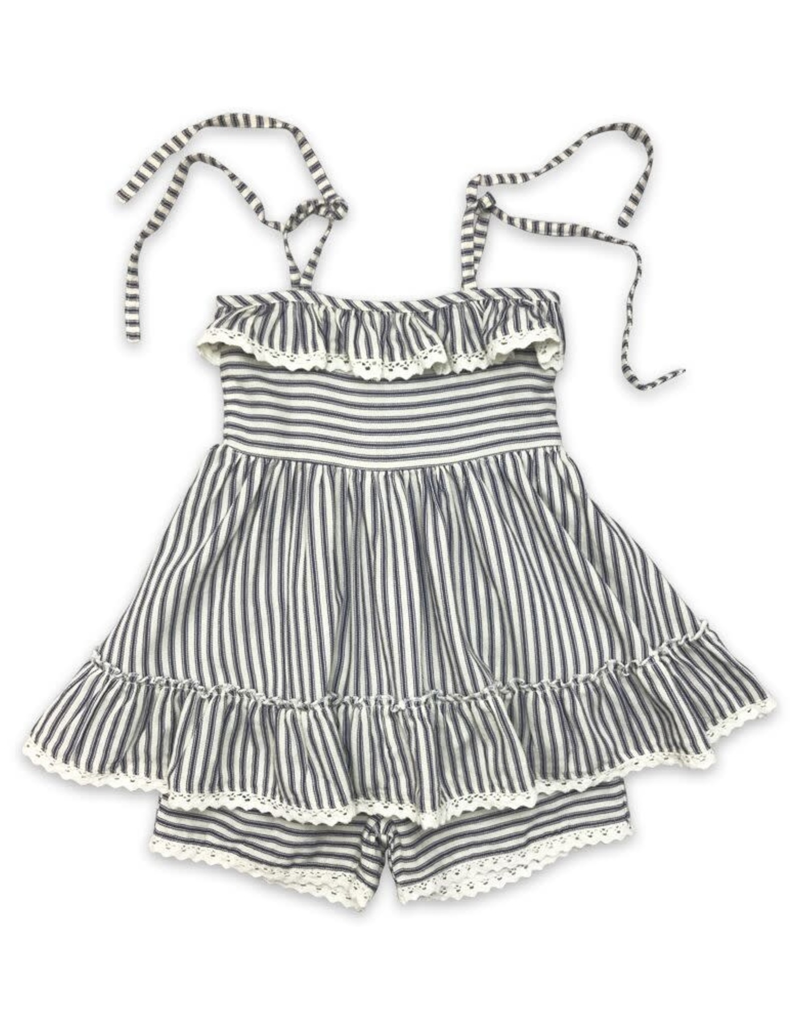 Little Prim Sydney Set in Ticking Stripe