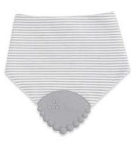 Chewbeads Drool Bib - Grey Stripe