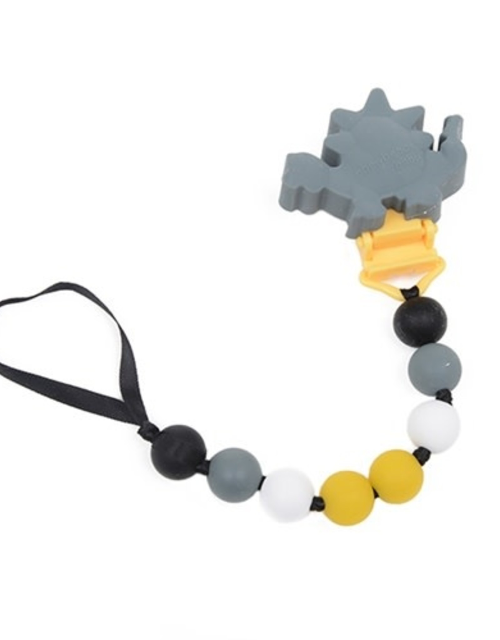 Chewbeads Pacifier Clip - Dino