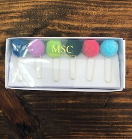 Main Street Collection PomPom Paper Clip Set