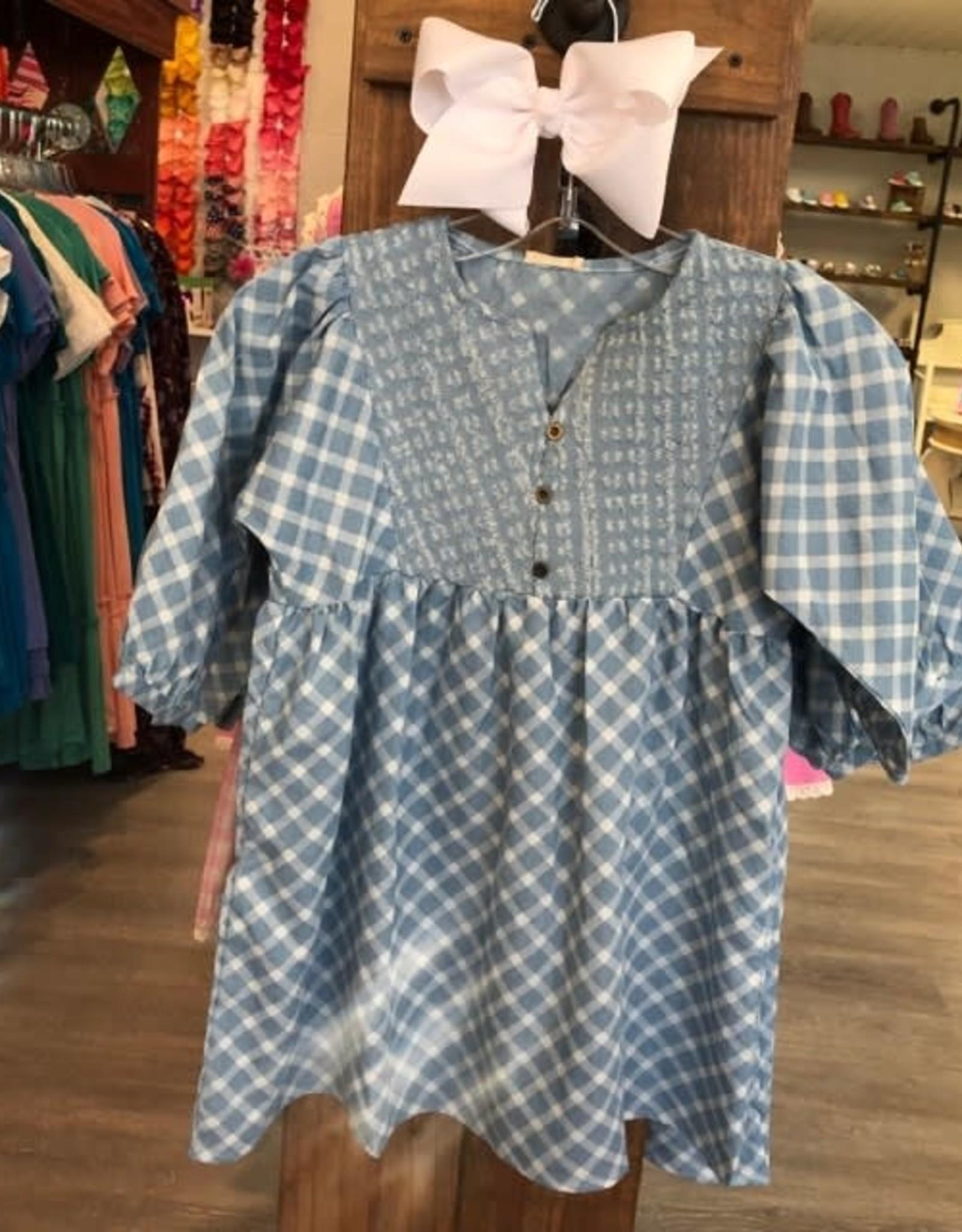 Hayden Denim Peasant Dress