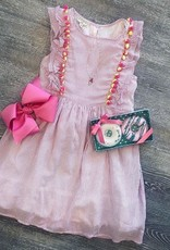 Hayden Pinstripe PomPom Dress