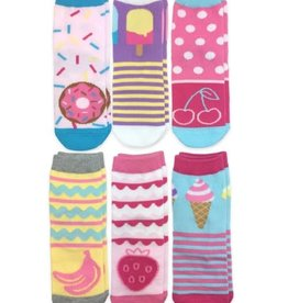Jefferies Socks Sweet Treats 6/PK Crew Socks
