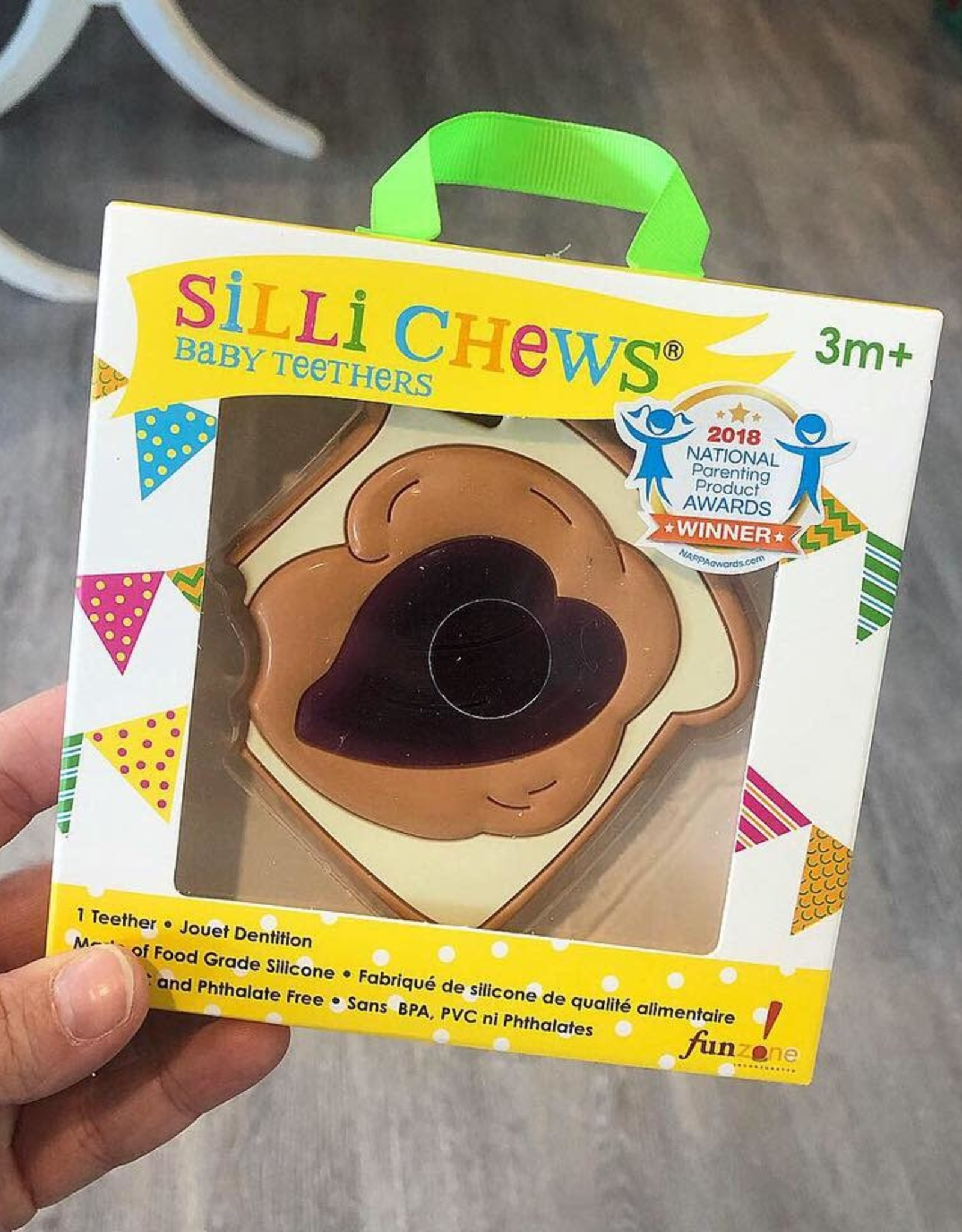 SilliChews Peanut Butter and Jelly Teether