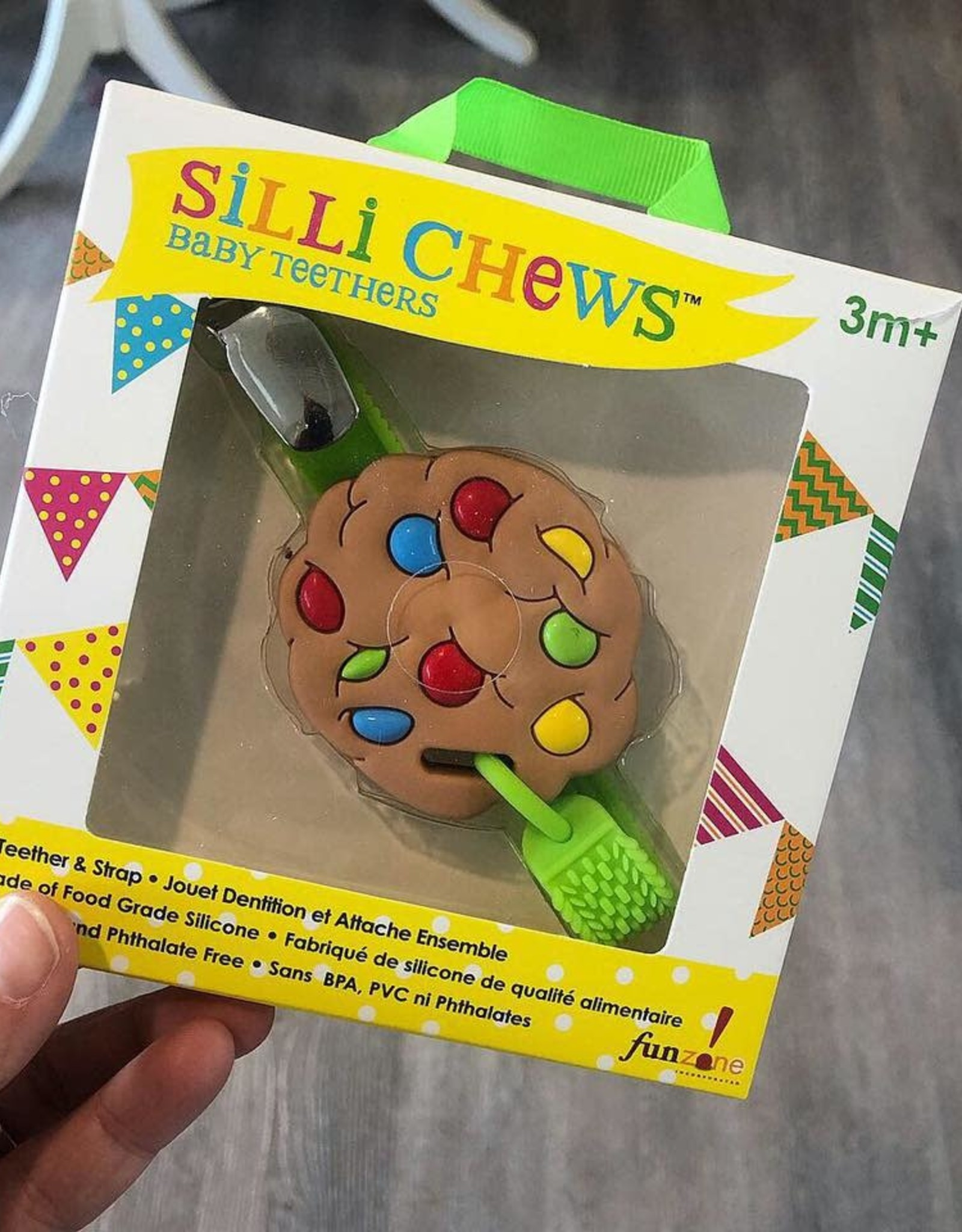 SilliChews Mini Cookie Teether with Strap