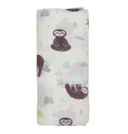 Posh Peanut Sloth Muslin Swaddle