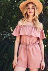 Blush Romper with Pockets