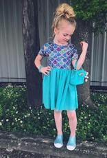 Honeydew Mermaid Scales Tulle Dress